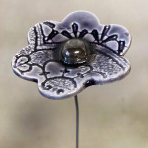 fleur en céramique
