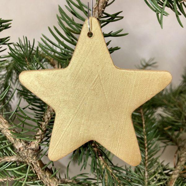 étoile en céramique doré